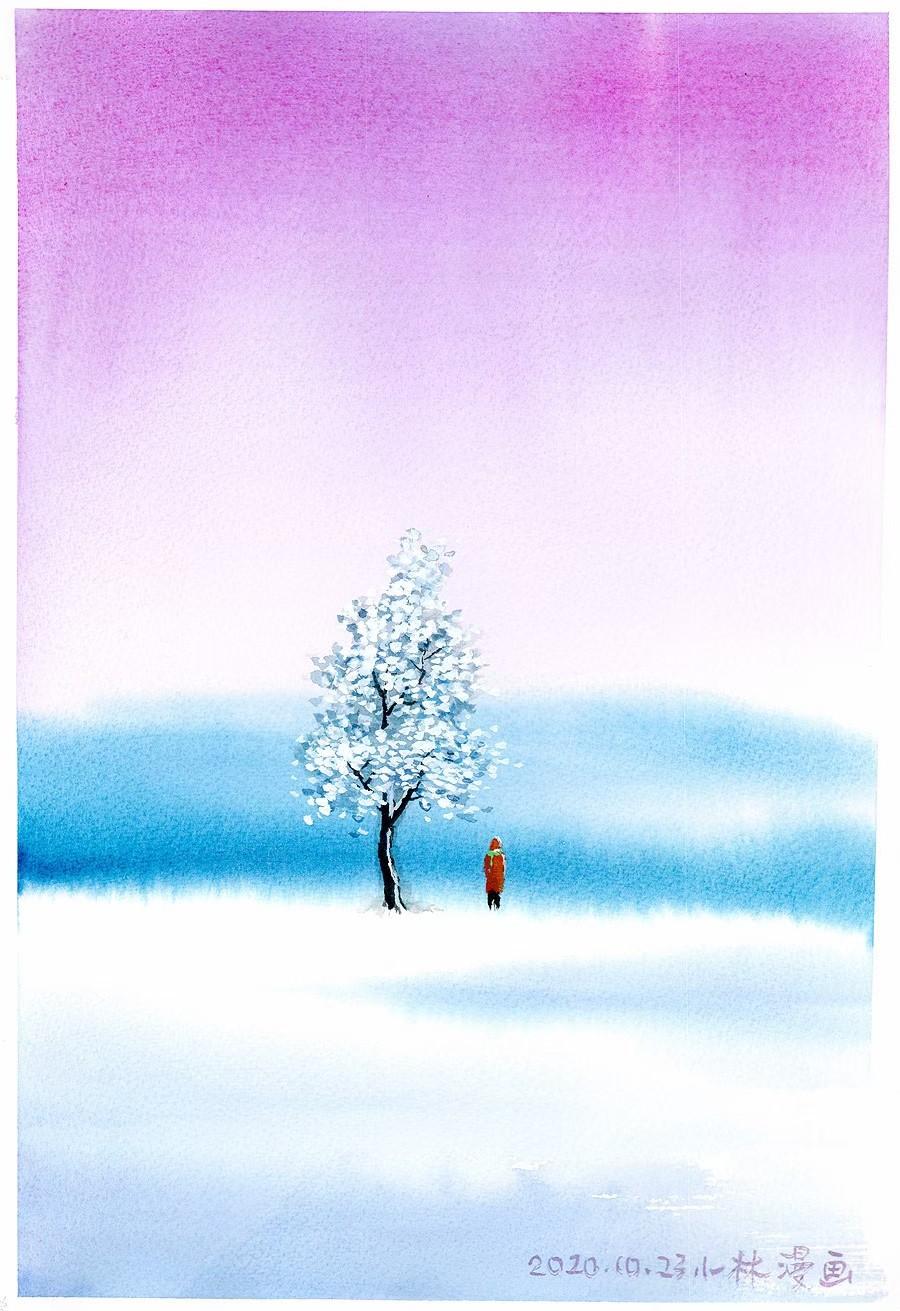 觅小雪诗意 晚来天欲雪,能饮一杯无?
